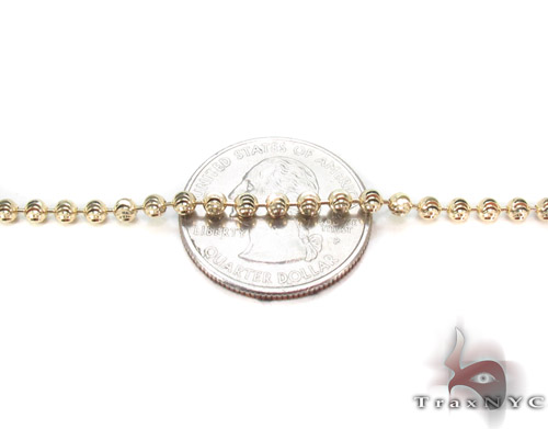 Yellow Gold Disco Ball Chain 26 Inches 3mm 16.3 Grams Gold