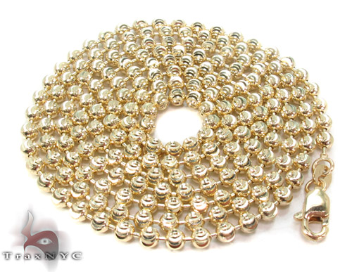 Yellow Gold Disco Ball Chain 30 Inches 3mm 18.9 Grams Gold