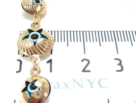 Yellow Gold Evil Eye Star Bracelet Gold