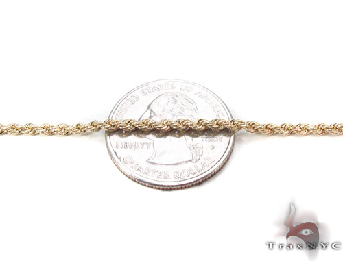 Yellow Gold Rope Chain 20 Inches 2mm 2 Grams Gold