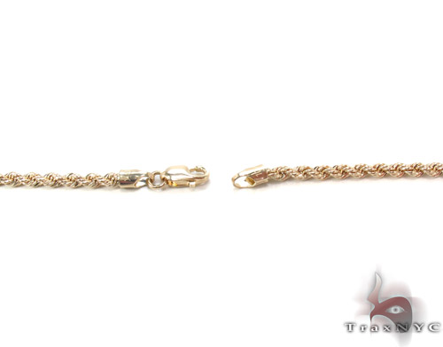 Yellow Gold Rope Chain 20 Inches 2mm 1.8 Grams Gold