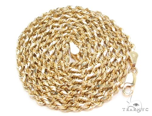 Yellow Gold Rope Chain 28 Inches 3mm 19.1.Grams Gold
