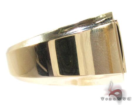 Yellow Gold Mens Jewelry Ring Stone