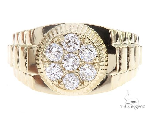 Yellow Gold Timepiece Solitaire Ring 65067 Stone