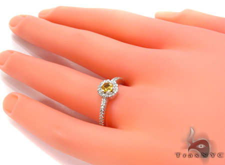 Yellow Sapphire & Diamond Ring 29259 Anniversary/Fashion