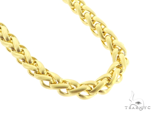 Yellow Stainless Steel Chain 22 Inches 8mm 92 Grams 57430 Stainless Steel