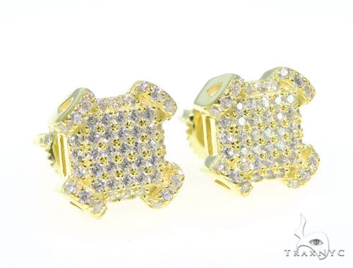 Silver Earrings 45031 Metal
