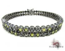 Black Diamond and Canary Bracelet