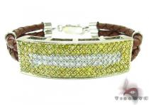 Mens Two Color Diamond Bracelet 21022