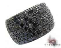 7 Row Fully Black Diamond Ring 23500