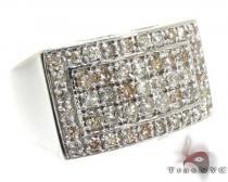 Silver 5 Row Prong Diamond Ring 25652