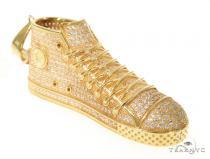 Silver CZ Shoe Pendant 48960