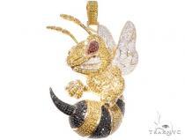 Custom Large Angry Bee Pendant Metal