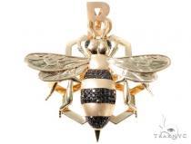Black Diamond Bee Pendant Metal