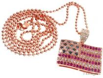American Flag Moon Cut Chain Set