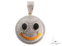 Micro Pave Diamond Small Smiley Face Pendant Stone