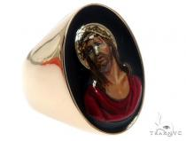 Jesus Christ Solid 14K Gold Ring Custom Order Hand Painted Any Image 64667 Metal