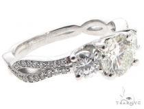 Platinum Diamond Three Stone Ring 64757 Engagement