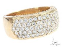 14k Yellow Gold Prong Diamond Band 65069