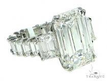 Three Stone Eternity Diamond Engagement Ring 65914 Wedding