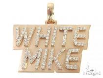 Custom Made White Mike Diamond Pendant 65960 Metal