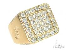 14K Yellow Gold Diamond TraxNYC Ring With Logo 65963 Stone