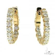 14K Gold Diamond Hoop Earring 66443 Style