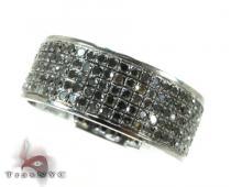 5 Row Black Diamond Ring 2